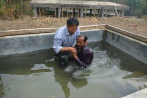 A Friend's baptism by Stephen's discipleship