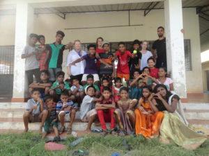 Slum children education training
