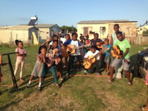 Some kids after music practice